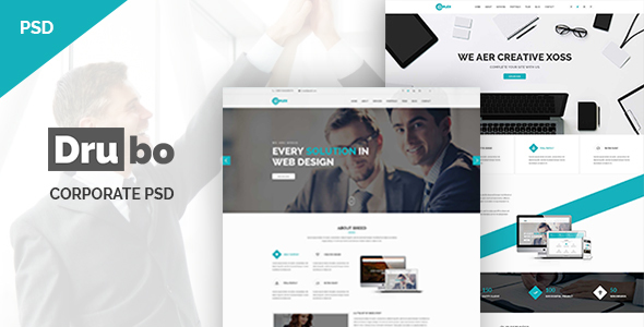 Drubo - Corporate PSD Template
