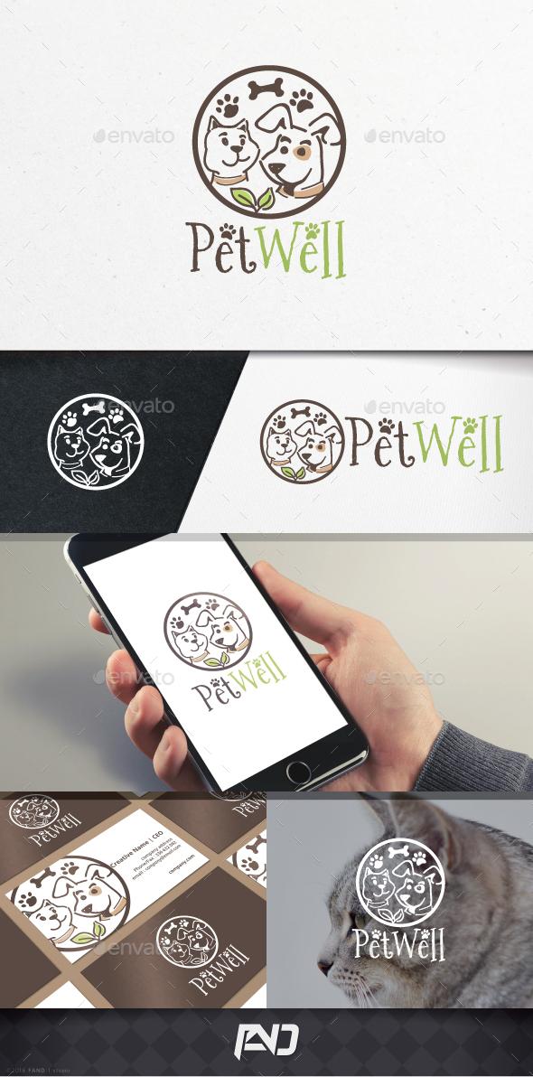 Pet Well Logo Template