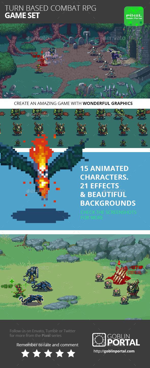 Turn Based Combat RPG Game Kit - Game Kits Game Assets
