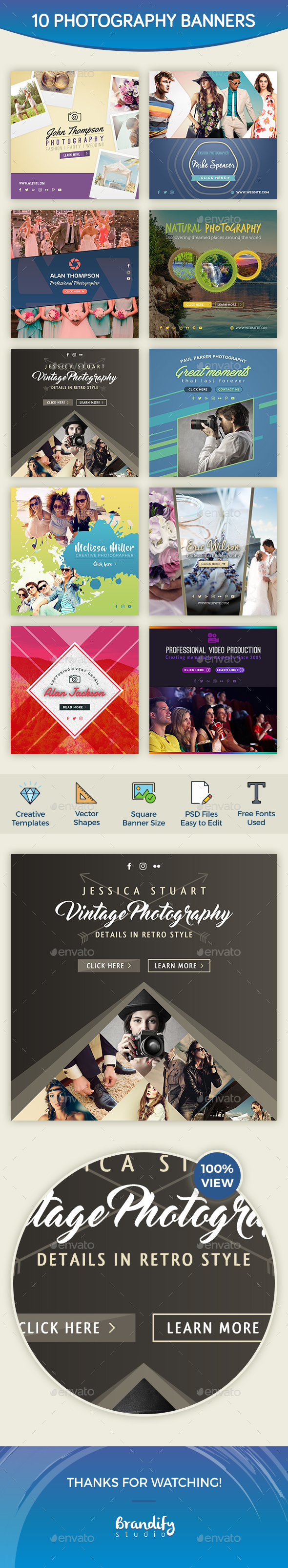 Photography Banners - Social Media Web Elements