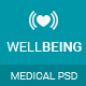 Well Being - Health & Medical PSD Template - ThemeForest Item for Sale