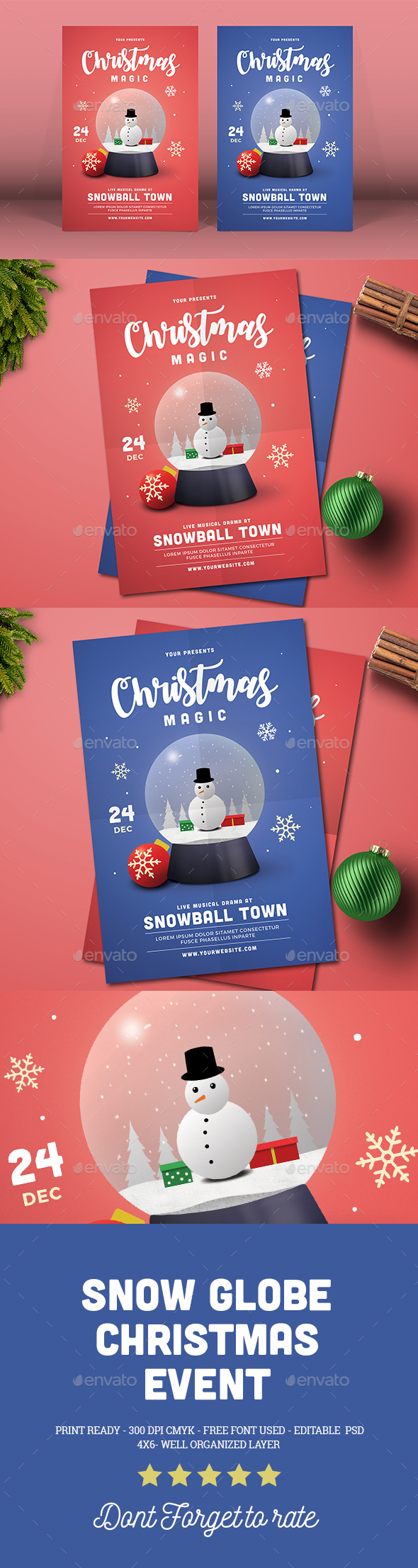 Snow Globe Christmas Event - Events Flyers