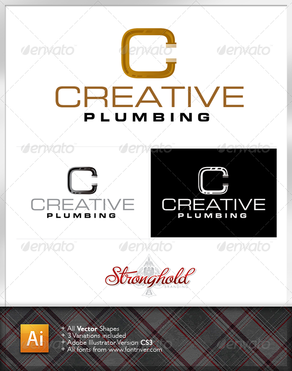 Plumbing Company Logo Template - Letters Logo Templates