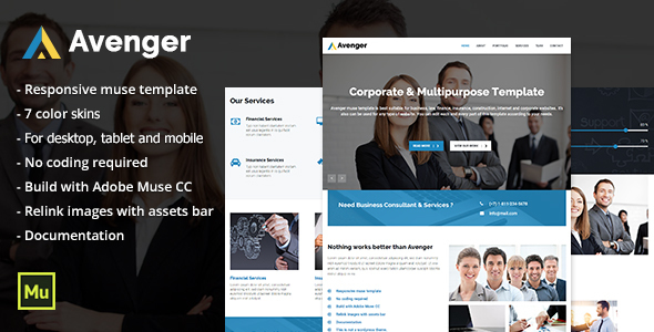 Avenger – Responsive Corporate & Multipurpose Template