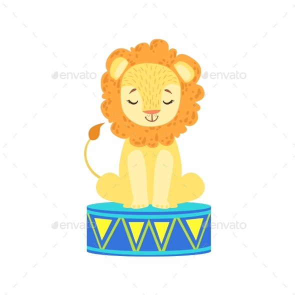 Circus Trained Lion - Animals Characters