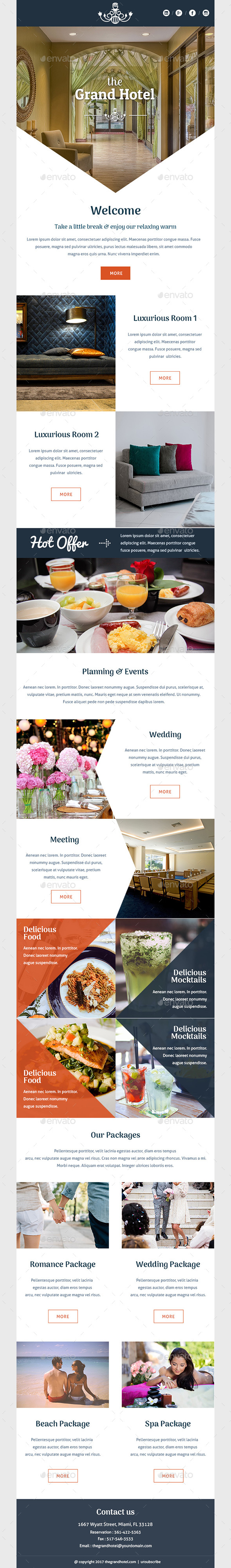The Grand Hotel - E-newsletters Web Elements
