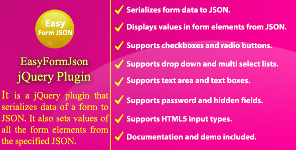 Easy Form JSON - jQuery Plugin by NajmulIqbal15 | CodeCanyon
