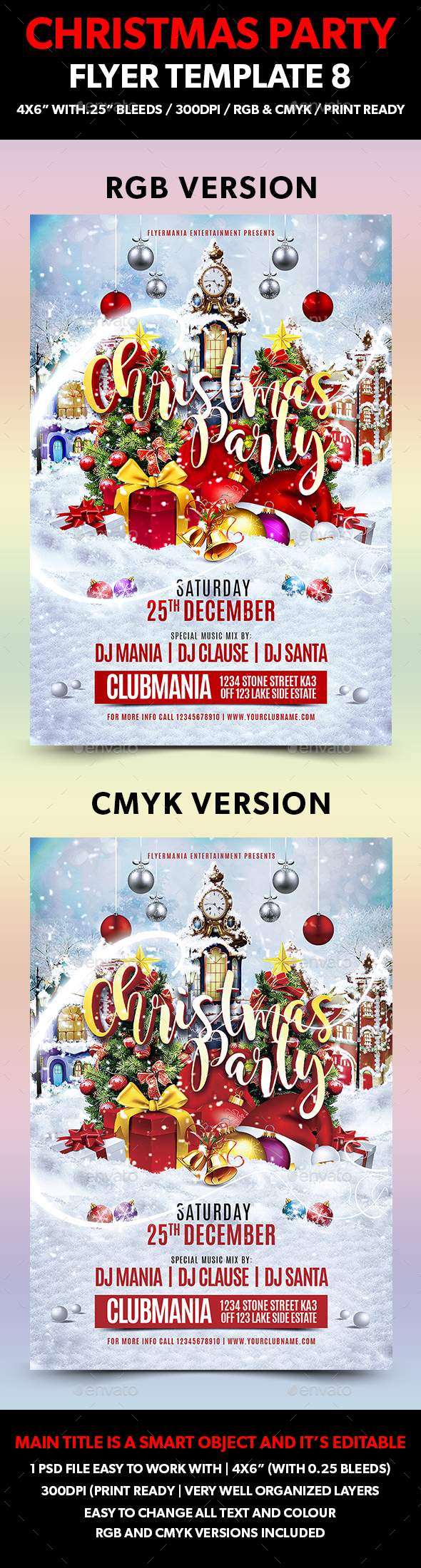 Christmas Party Flyer Template 8