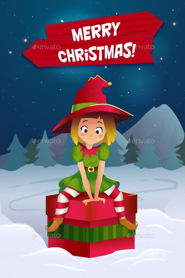 Merry Christmas Colorful Card Design, Vector - Christmas Seasons/Holidays