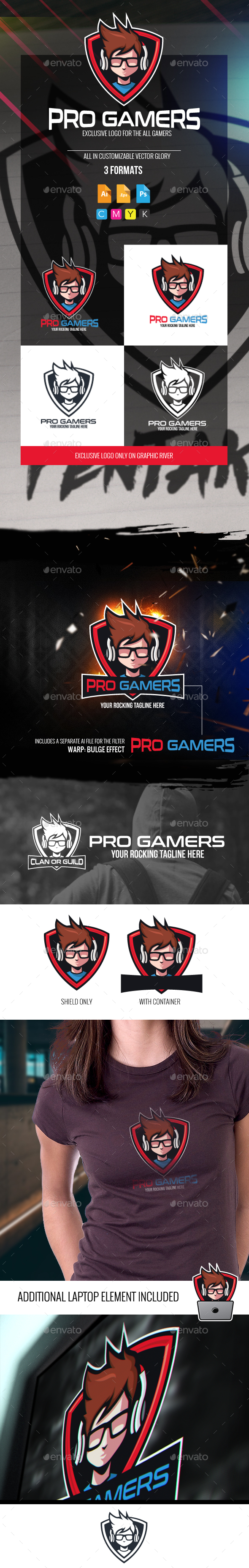 Pro Gamers Logo - Humans Logo Templates