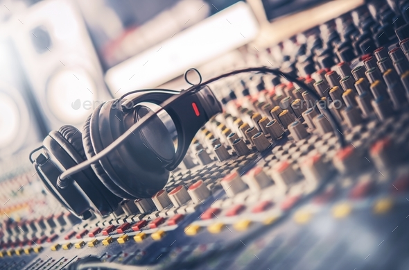 Sound Mastering Mixer - Stock Photo - Images