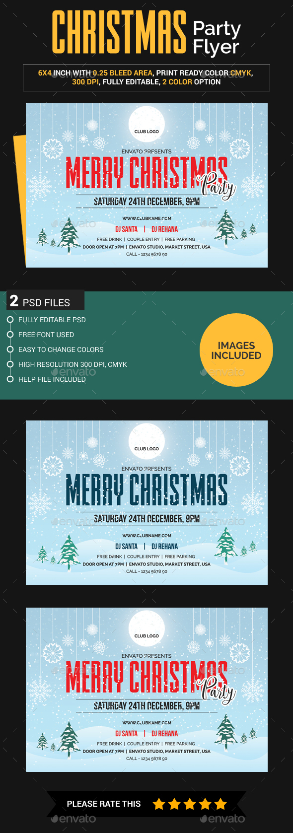 Christmas Flyer (Images Included) - Clubs & Parties Events
