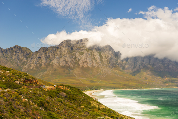 Victoria Road Tourist Drive Cape Town - Stock Photo - Images