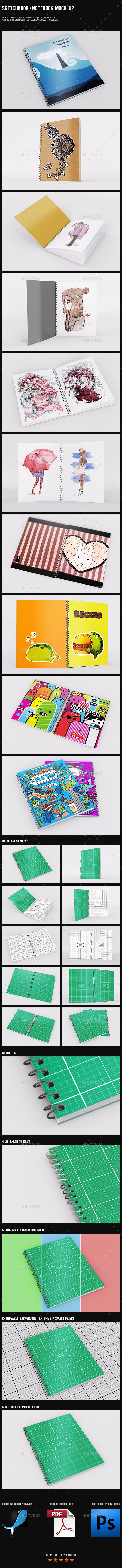 Sketchbook Notebook Mock-Up
