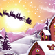 Sunrise Village in Snowy Winter - GraphicRiver Item for Sale
