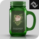 Small Beverage Glass Jar Mug Cup Mockup - GraphicRiver Item for Sale
