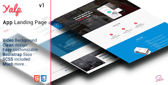 Yalp - App Landing Page - Apps Technology