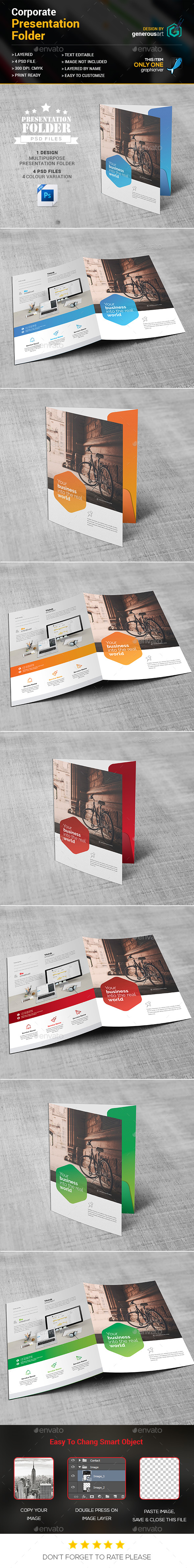 Corporate Presentation Folder - Stationery Print Templates