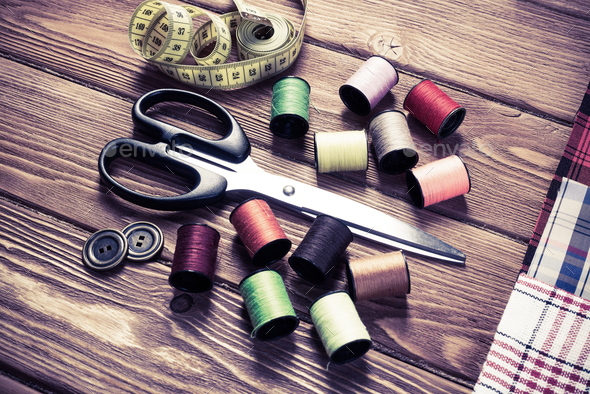 Items for sewing or DIY - Stock Photo - Images