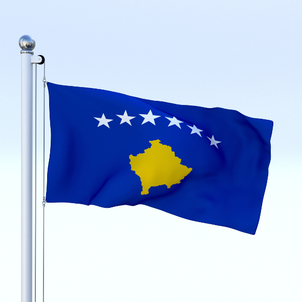 Animated Kosovo Flag - 3DOcean Item for Sale