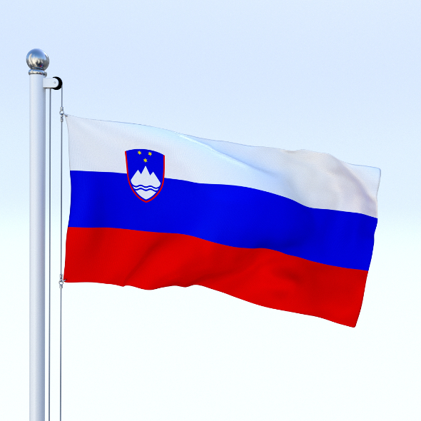 Animated Slovenia Flag - 3DOcean Item for Sale