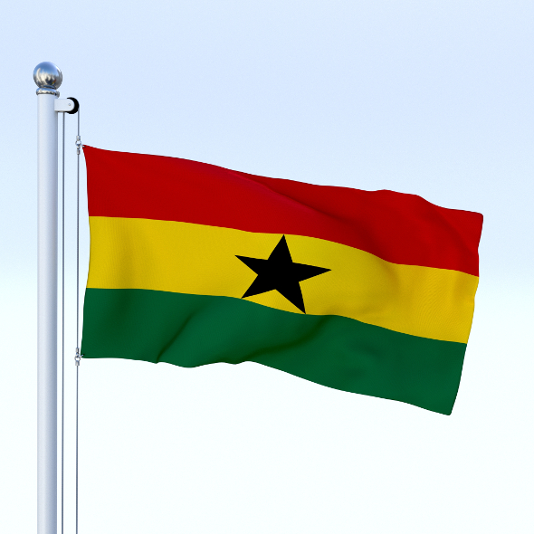 Animated Ghana Flag - 3DOcean Item for Sale
