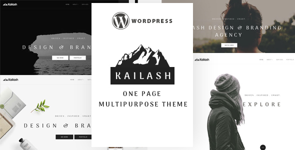 Kailash – Minimal & Versatile Multi-Concept One page WordPress Theme