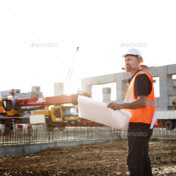 Blueprint Architect Career Structure Construction Concept - Stock Photo - Images