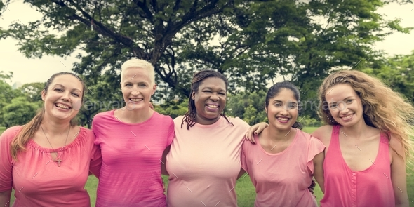 Women Breast Cancer Support Charity Concept - Stock Photo - Images