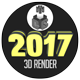2017 Iluminated 3D Render - GraphicRiver Item for Sale