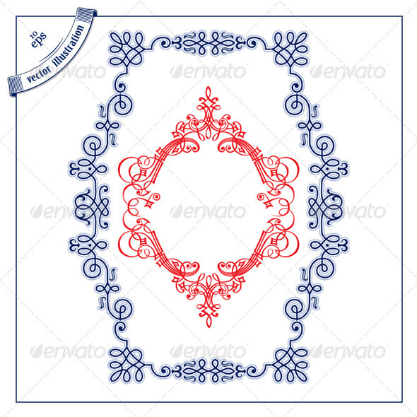 Decorative Calligraphic Border Set - Borders Decorative