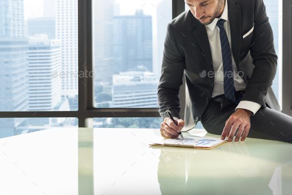 Businessman Enterpreneur Motivation Objective Concept - Stock Photo - Images