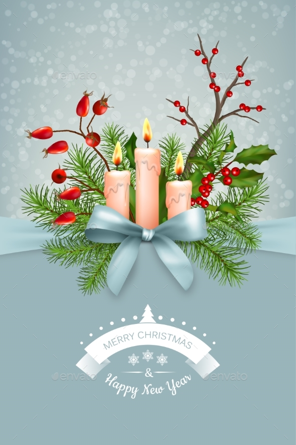 Vector Christmas Greeting Card - Christmas Seasons/Holidays