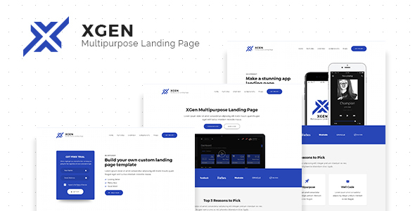 XGen - Multipurpose Landing Page PSD Template - Technology PSD Templates
