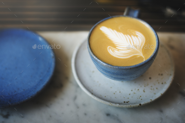 Coffee Cup Cappoccino Restaurant Coffee Shop Concept - Stock Photo - Images