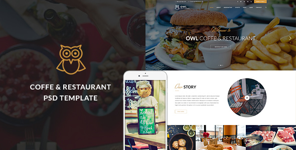 OWLTheme – Cafe & Restaurant PSD Template