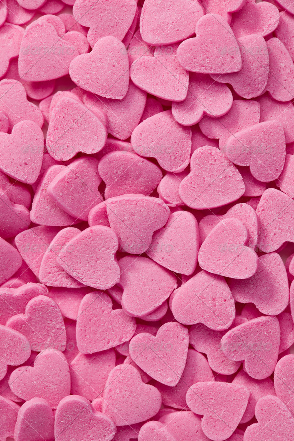 pink hearts background - Stock Photo - Images