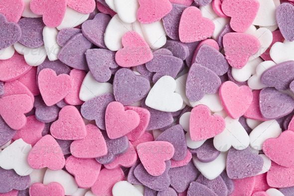 colorful hearts background - Stock Photo - Images