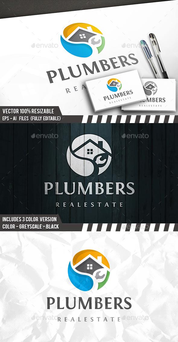 Plumber Logo Template - Buildings Logo Templates