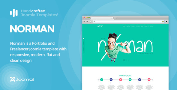 IT Norman – CV, Portfolio and Freelancer Joomla Template Gantry 5