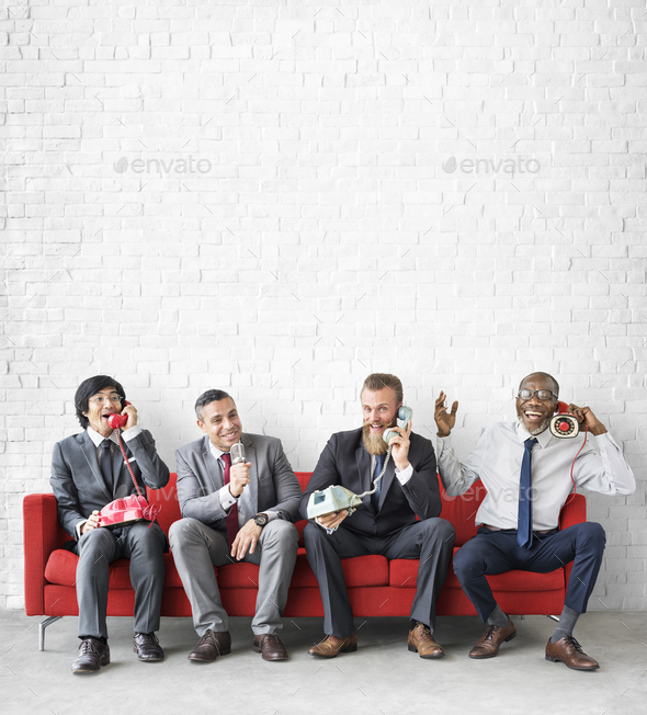 Business Team Working Using Vintage Objects Concept - Stock Photo - Images