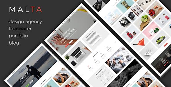 MALTA – Multipurpose One Page PSD Template - Creative PSD Templates
