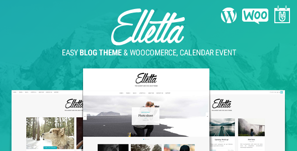 Elletta – Blog News, Calendar & Shop Theme WordPress