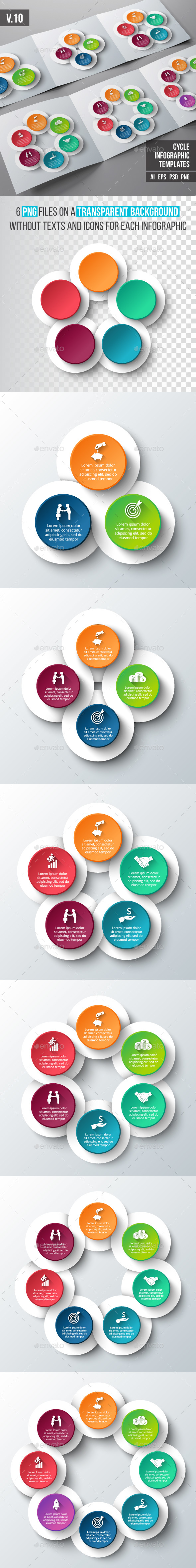 Infographics template set v.10 - Infographics