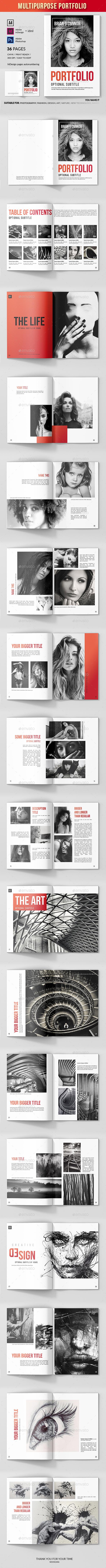 Multipurpose Portfolio - 36 Pages INDD / IDML / PSD - Portfolio Brochures