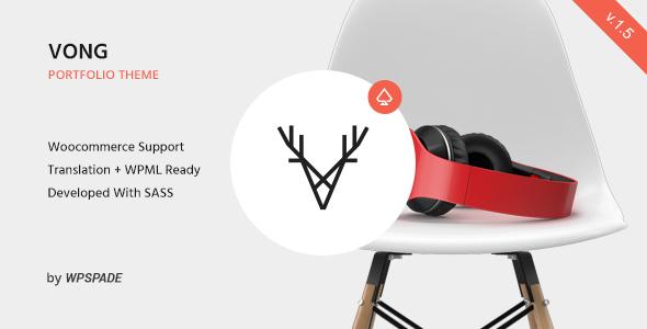 Vong Portfolio - Responsive Portfolio WordPress Theme - Portfolio Creative