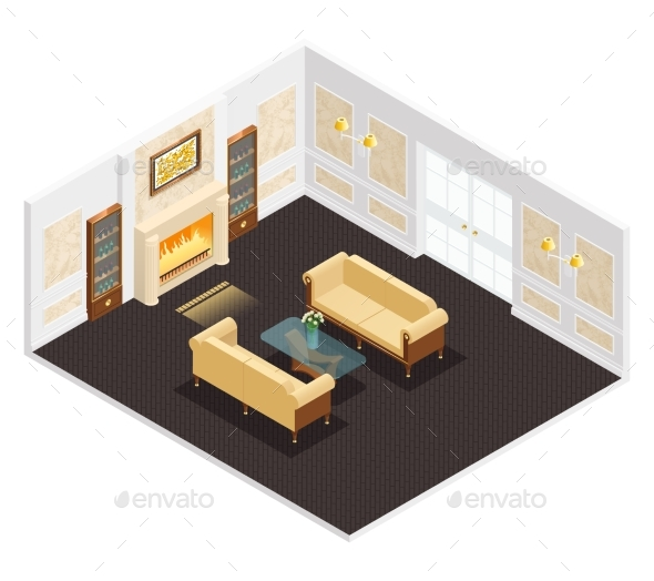 Isometric Luxury Interior - Miscellaneous Conceptual