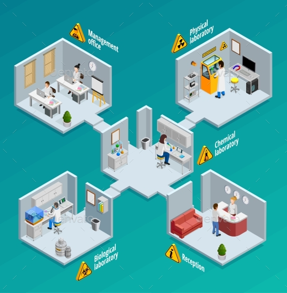 Laboratory Concept Illustration - People Characters