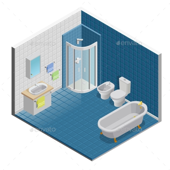 Bathroom Interior Design - Man-made Objects Objects