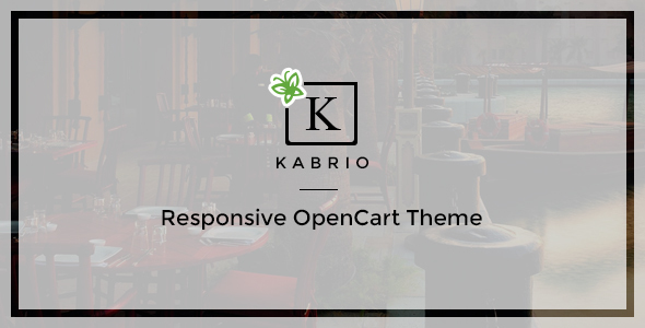 Kabrio – Responsive OpenCart Theme